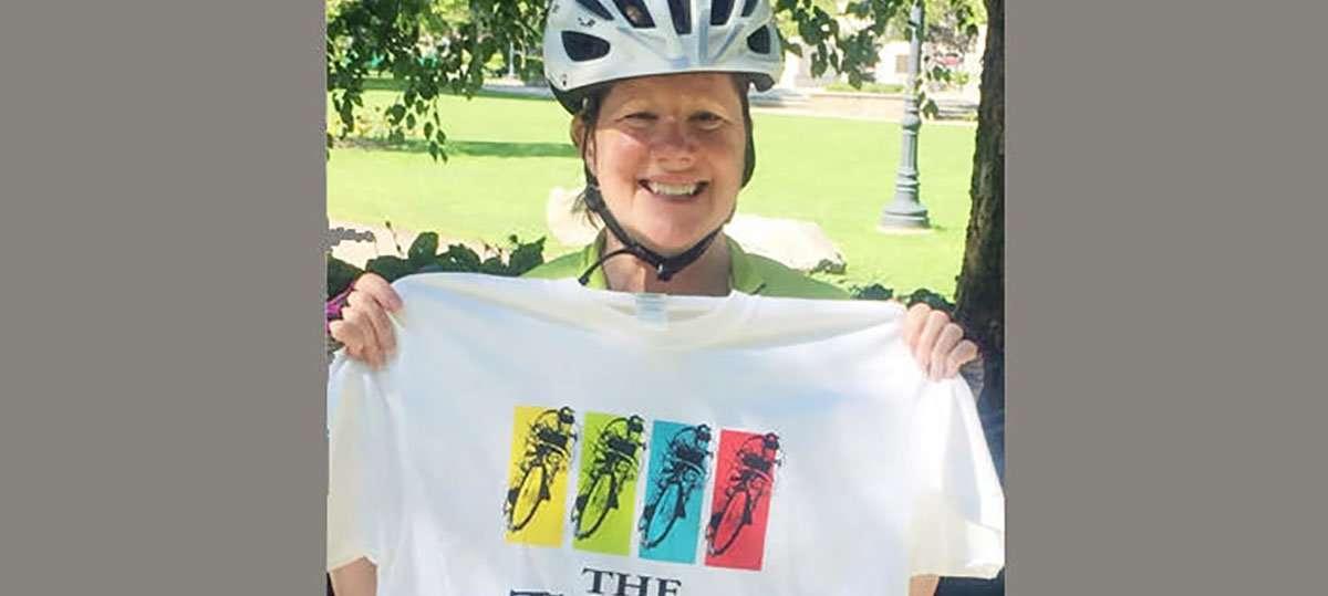 Leesa Schipani Bikes 55 Miles