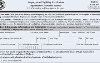 USCIS Form I-9