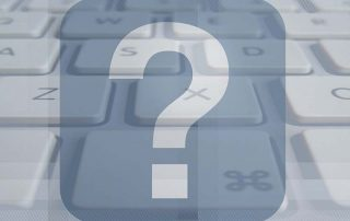 Question Mark with Keyboard