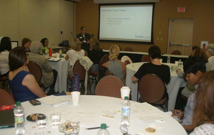 "Carol Kardas speaking at CEDF's ""Building Support from Other Women"""
